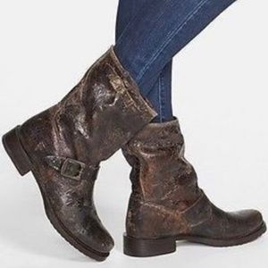 Frye Veronica Mid Calf Distressed Boots